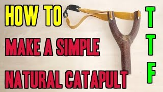 HOW TO MAKE A NATURAL CATAPULT THE EASY WAY !!! SLINGSHOT MAKING