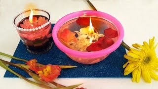Floating Water Candle Decoration For Diwali | DIY Diwali Decoration Ideas | Floating Diya Decoration