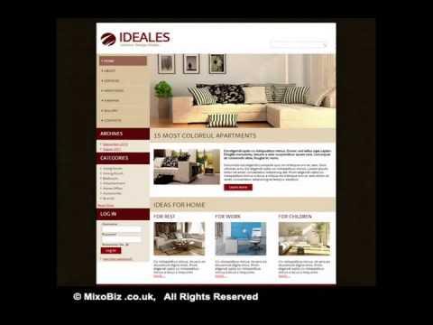 Interior Furniture related web design samples ( MixoBiz )