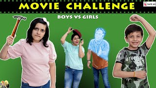 GUESS THE MOVIE CHALLENGE Disney+Hotstar #Funny Family Challenge   Aayu and Pihu Show