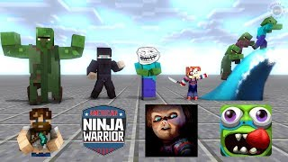 Monster School : SEASON 5 ALL EPISODE - Minecraft Animation