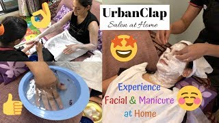 URBANCLAP SALON AT HOME | Facial And Manicure At Home 💅| UrbanClap Review|Skincare|Life & Happiness
