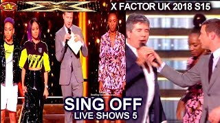 Shan vs Acacia & Aaliyah SING OFF & RESULTS Eight Acts Tour | Live Shows 5 Results  X Factor UK 2018
