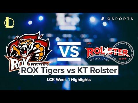 Highlights: ROX Tigers vs KT Rolster (2017 LCK Spring)