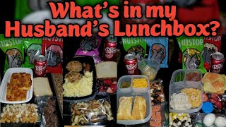What's in my HUSBAND'S lunchbox?   Work Lunches for the week