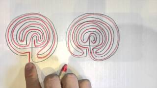 True 3 & 5 Circuit Labyrinths
