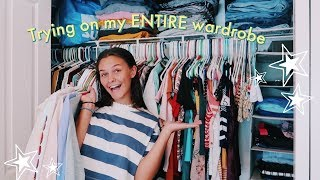 Trying On EVERYTHING In My Closet