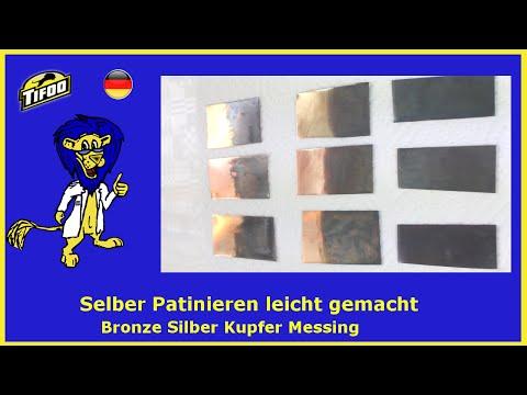 Tifoo Patinierung - u.a. Kupfer,  Messing & Silber  selbst patinieren / schwärzen