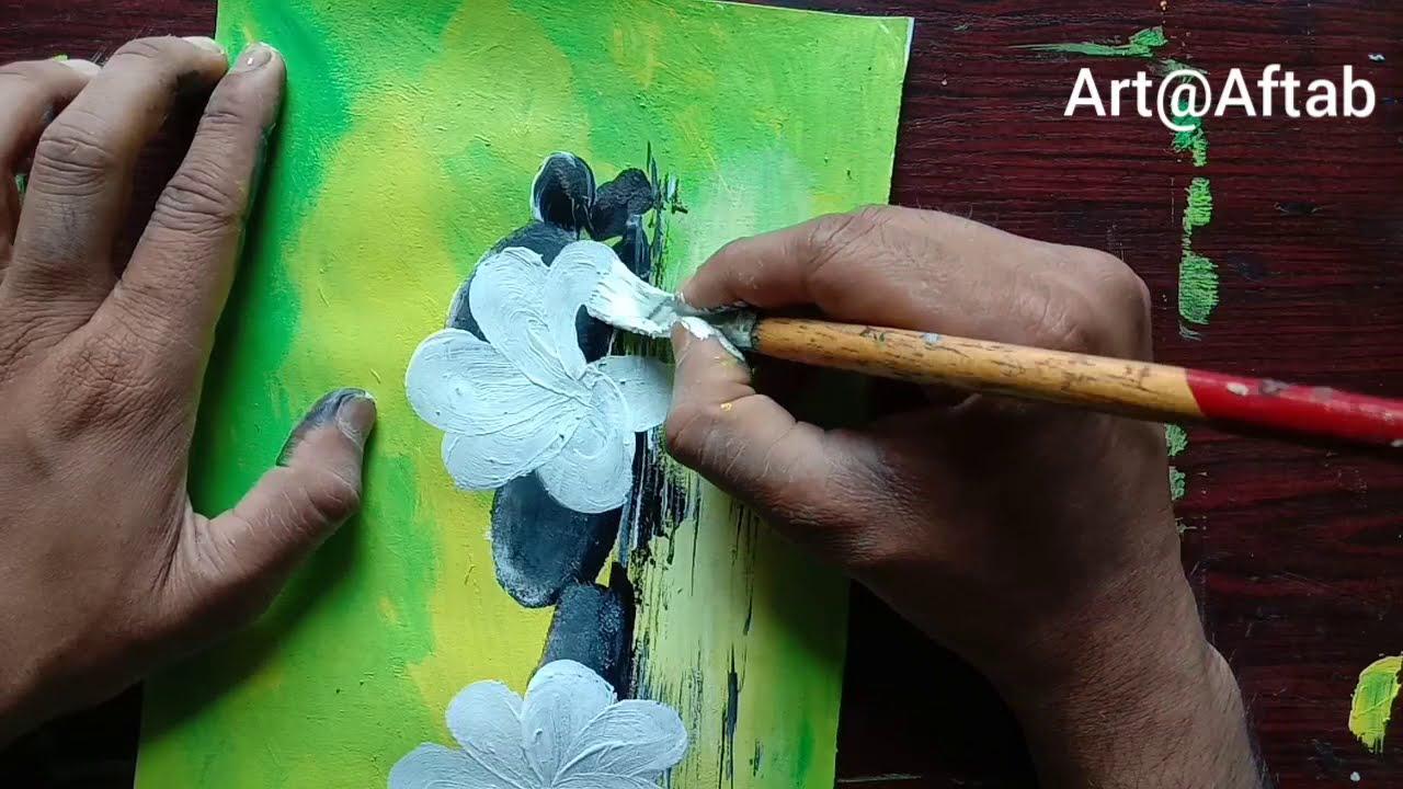acyrlic painting on canvas by aftab