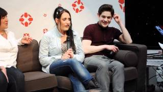 Lauren Socha, Iwan Rheon & Lauren Socha. Comic Con
