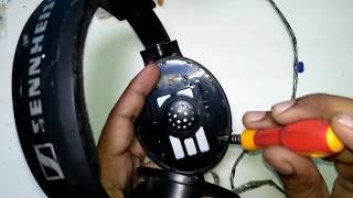How to repair Sennheiser HD 201 DJ headphone in hindi.