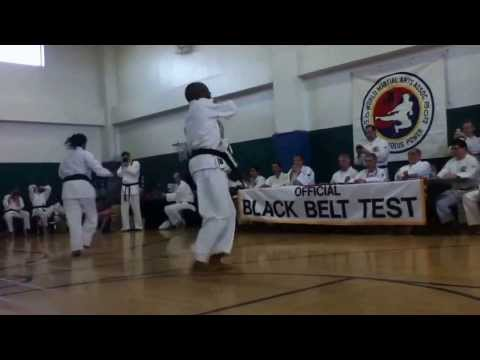 My Instructor Dameion Rhythm Child Williams demonstrates a series of Chung Do Kwan forms