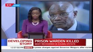 Female prison warden killed in unclear circumstances