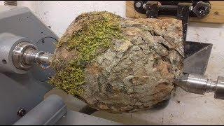 Woodturning - A Natural Edge Burl Hollowform