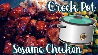 EASY CROCKPOT SESAME CHICKEN RECIPE! | SO YUMMY!