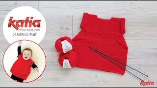 How to Knit a One Piece Baby Dress