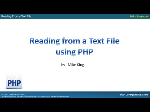 31100 - Using PHP To Read From A Text File Mp3