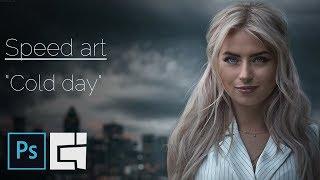 """Photoshop - Speed art - """"Cold day""""/Braginskoy"""