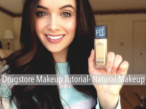 Drugstore Makeup Tutorial - Maybelline Fit Me Matte & Poreless