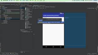 Android Kotlin Horizontal RecyclerView Tutorial