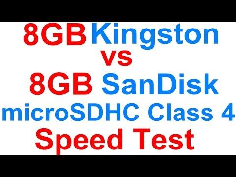rd #146 8GB Kingston microSDHC Class 4 vs 8GB SanDisk microSDHC Class 4