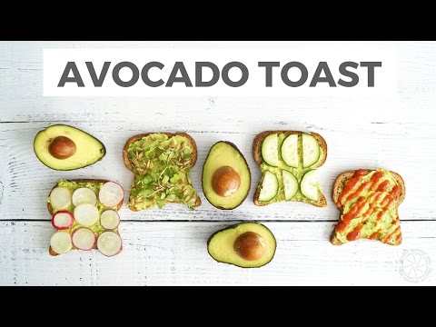 Video Avocado Toast 4 Ways | Quick Healthy Breakfast or Snack | Healthy Grocery Girl