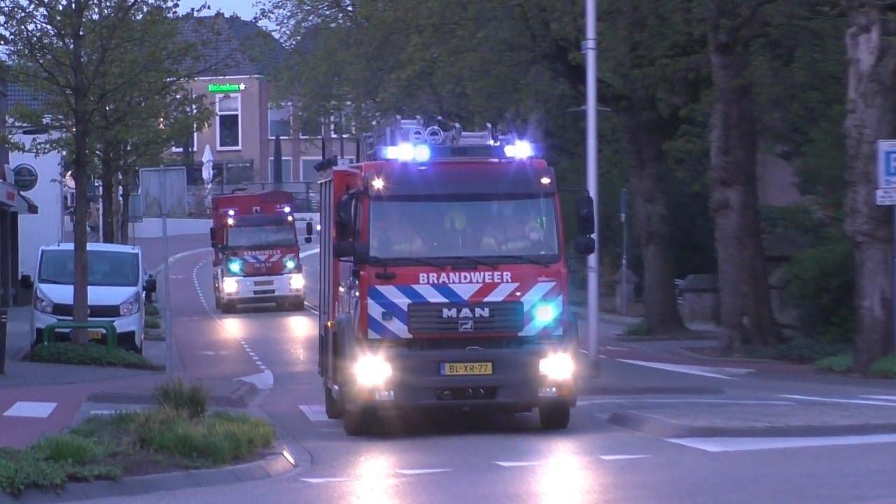 Prio1 18-9791, 18-7032 & 18-7081+18-7061 naar een grote brand aan de Brandwijksedijk in Brandwijk