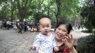 Video : China : People's Park in ChengDu 成都 - video