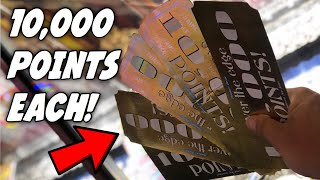 WON SO MANY 10,000 POINT TICKETS FROM THE ARCADE!!! (Coin Pusher GOLD TICKETS!) | ClawBoss