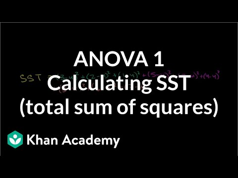ANOVA 1: Calculating SST (total sum of squares) (video