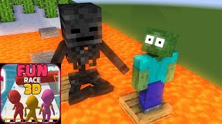 Monster School : FUN RACE 3D Challenge - Minecraft Animation