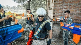 Banana TV : Couple Ultimate Squad Skill Nerf Guns Battle High-tech Crime NERF WAR Mission Impossible