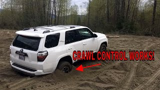 CRAWL CONTROL IN ACTION Toyota 4Runner off-road premium to get unstuck