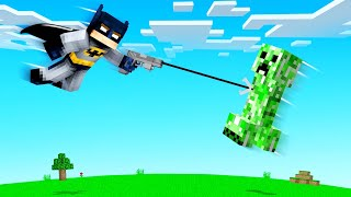 Playing MINECRAFT As BATMAN! (mega grapple)
