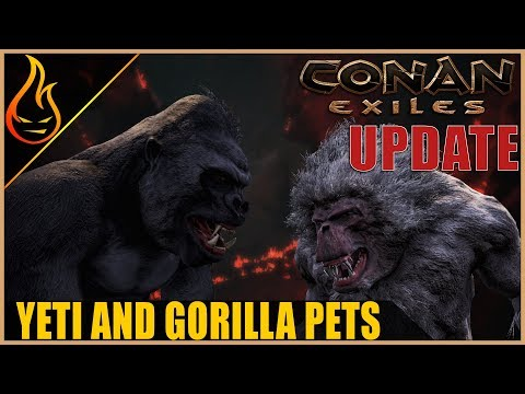 How To Get The Yeti And Gorilla Pets Update Video Conan Exiles 2019