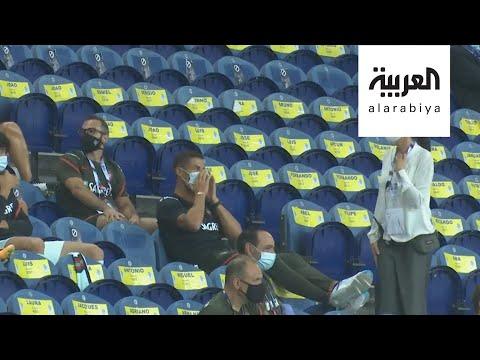 العرب اليوم - شاهد: رونالدو يتعرض للإحراج بسبب الكمامة