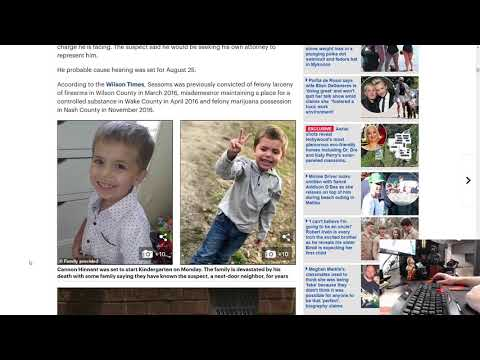 5 Year-Old Cannon Hinnant Murdered In Wilson, NC by Next Door Neighbor – Justice for Cannon