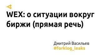 WEX: Дмитрий Васильев о ситуации вокруг биржи (прямая речь)