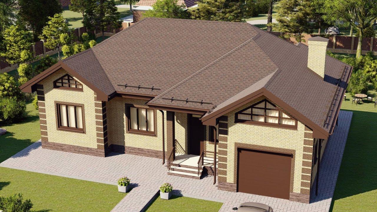 Проекты больших одноэтажных домов для ИЖС