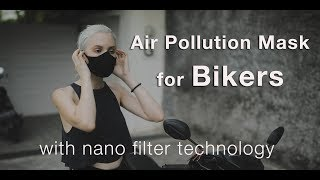 Air pollution face mask for clean air, sustainably made, 99.99# protection @ PM2.5