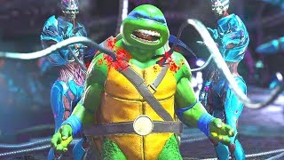 Injustice 2 - All Super Moves on TMNT Leonardo (1080p 60FPS)