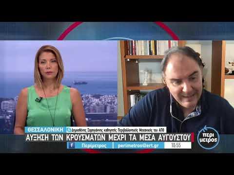Δ. Σαρηγιάννης: Θα επιβραδυνθεί ο ρυθμός αύξησης των κρουσμάτων στη Θεσσαλονίκη | 19/07/2021 | ΕΡΤ