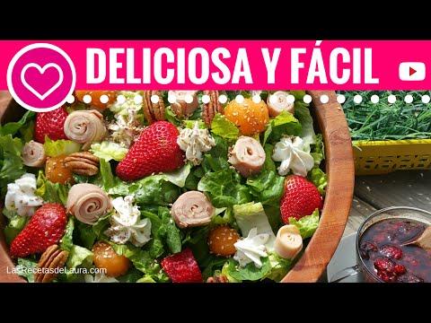 Receta de ensalada con frutas - Ensalada con lechuga y fresas