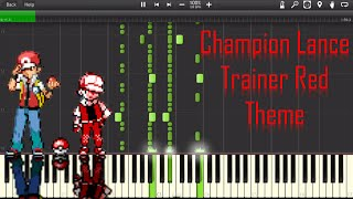 Pokemon Trainer Red/Champion Lance Battle music Piano - Synthesia