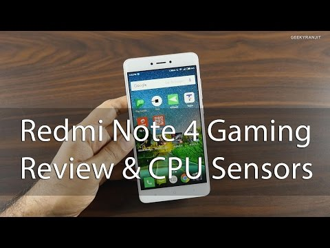 Redmi Note 4 Gaming Review CPU Info & Sensors (Indian Variant)