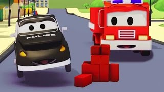The Car Patrol : Police Car & Fire Truck of Car City and the Mystery of the Bricks in the Road