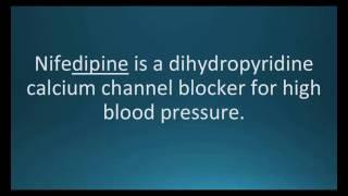 How to pronounce nifedipine (Procardia) (Memorizing Pharmacology Flashcard)