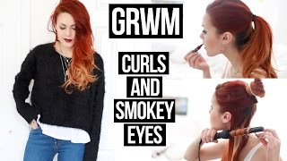 Get Ready With Me : Curls And Smokey Eyes   Le Happy