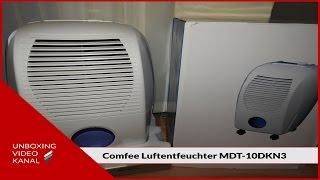 Luftentfeuchter Comfee MDT-10DKN3 - Unboxing Video