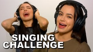 SINGING while wearing NOISE CANCELLING HEADPHONES! - Merrell Twins